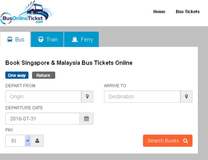 Booking at BusOnlineTicket