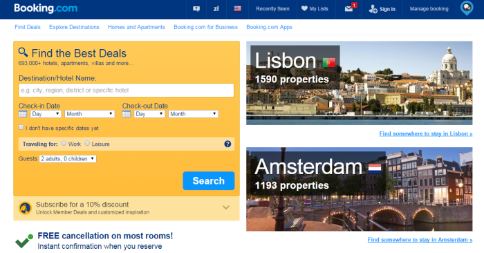 find the best deals at Booking.com
