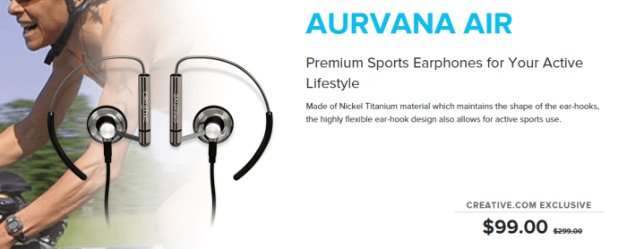 Sports earphones at Creative