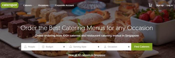 Menus at Caterspot