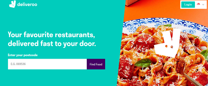 Deliveroo's website