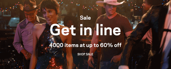 Sale items at the store
