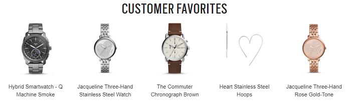 Customers' favorites at Fossil