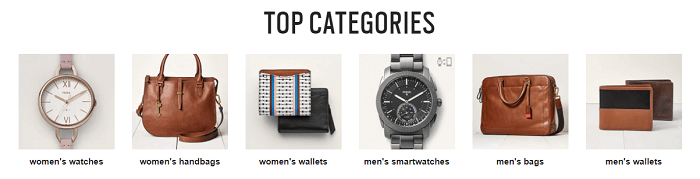 Top sellers at Fossil