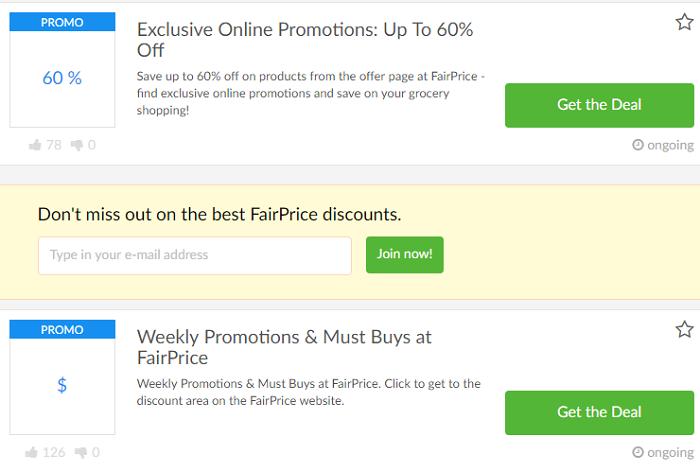 Discounts at FairPrice