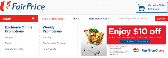 Promotions at FairPrice