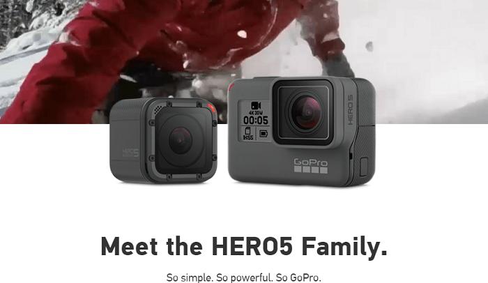 Visit GoPro's website today