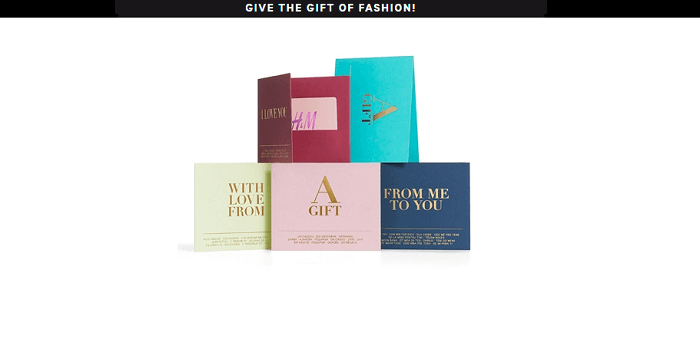 A fashion giftcard is always a good idea