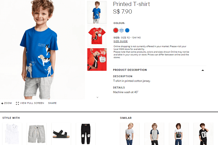 Even kids will find something at H&M
