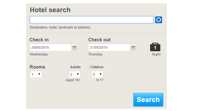 Hotels.com Search