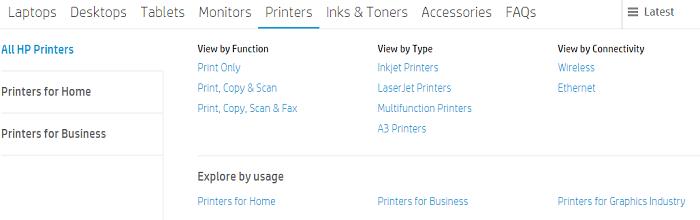 HP tablets, printers, ink
