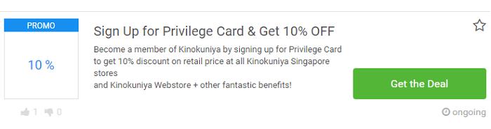 Deals at Kinokuniya