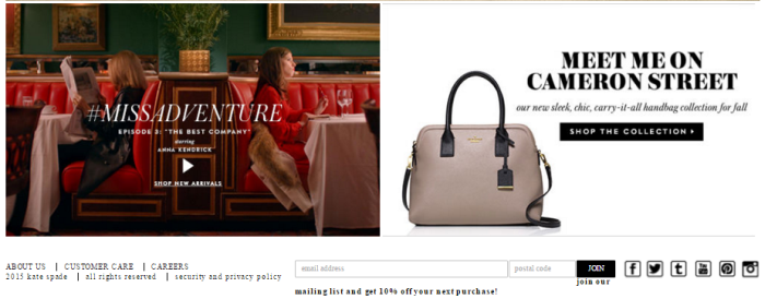 Kate Spade's Miss Adventure