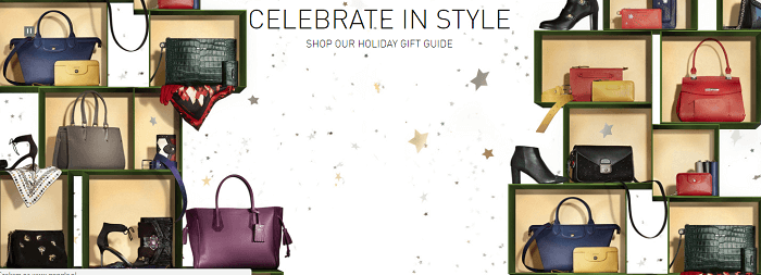 Visit Longchamp's website