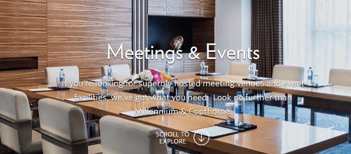 Organise your meeting at the Millennium venue