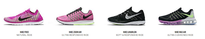 Nike offers a wide range of shoes