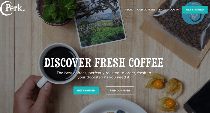 Tasty Perk Coffee products