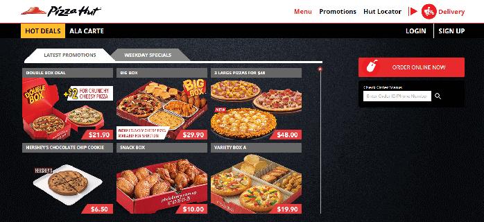 Pizza hut delivery deals 50 off
