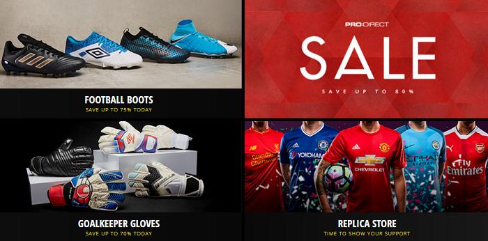 The store's range for each football fan
