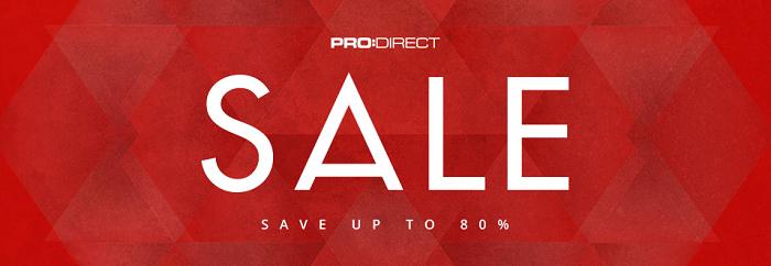 Sale range at Pro Direct Soccer