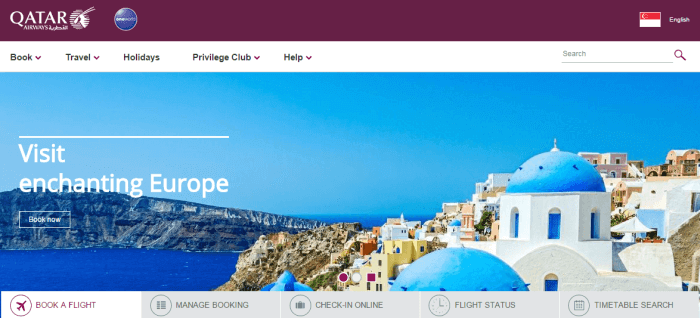 travel with Qatar Airways