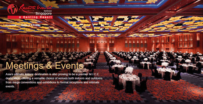Dining and meeting rooms at RWS