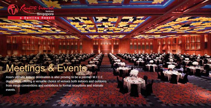 Dining and meeting rooms at RWS
