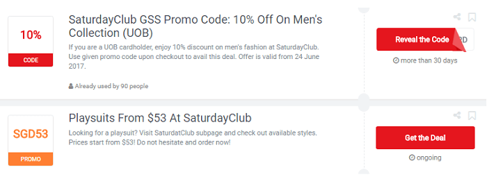 Saturday Club coupons