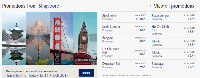 Fantastic promotions with Singapore Airlines
