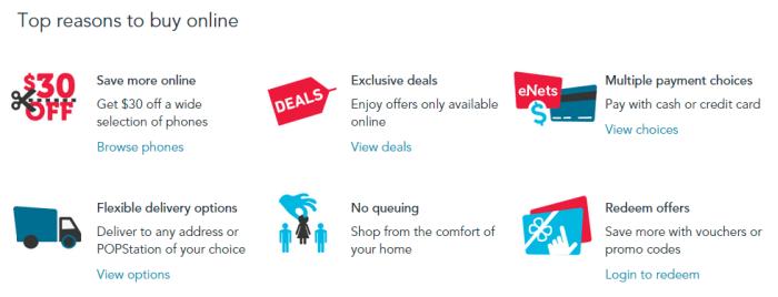 top reasons to buy online at Singtel