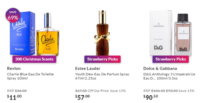 Perfumes at StrawberryNet