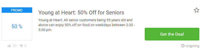 Young at heart promo for seniors