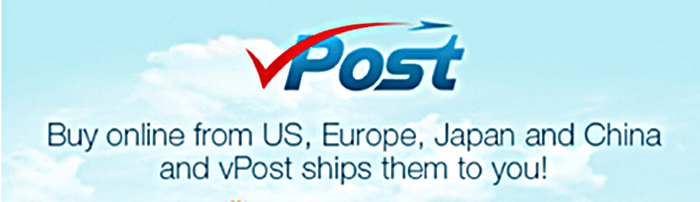buy online from US, Europe, Japan and China and have it shipped with vPost