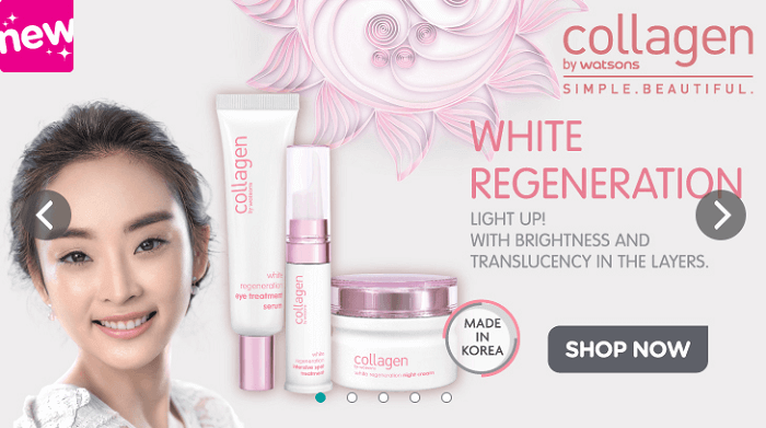 Skin care products at Watsons