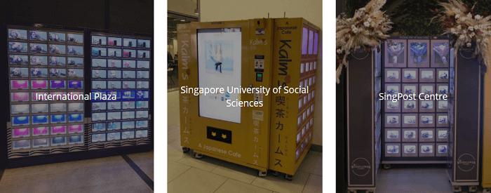 Flower vending machines