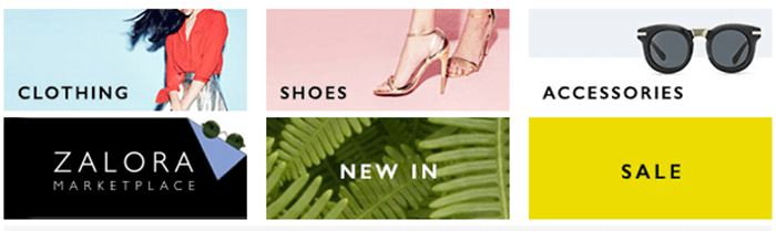 shop by category with Zalora promo codes