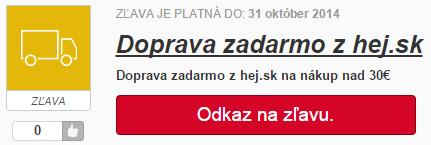 Doprava zdarma na hej.sk