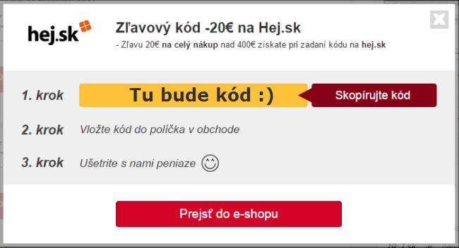 Zľavový kupón hej.sk