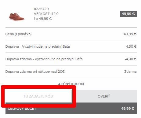 Ako použiť zľavový kód na bata.sk