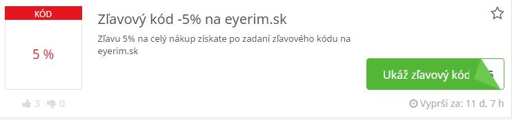 zlavovy kod eyerim
