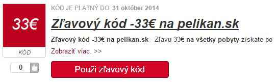 Zľavový kód pelikan.sk
