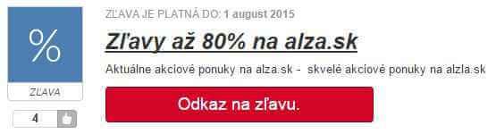 zľava bez zľavového kódu alza.sk