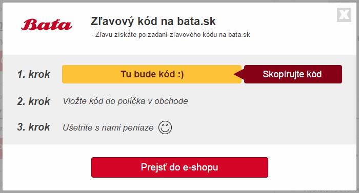 Zľavový kupón bata.sk
