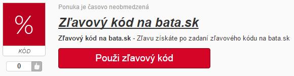 Zľavový kód bata.sk