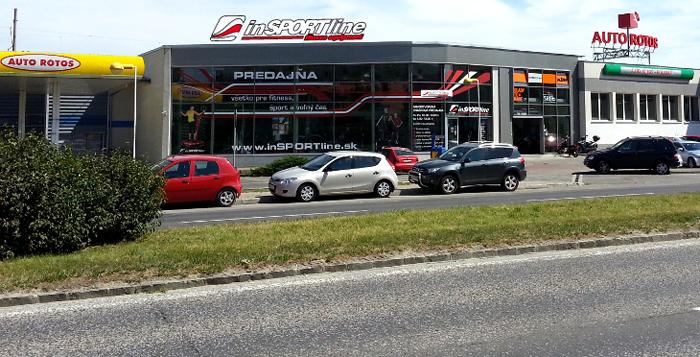 Na Slovensku sa nachádzajú tri predajne Insportline - v Bratislave, v Košiciach a v Trenčíne