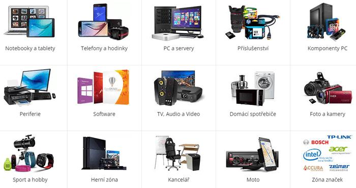 Malá ukážka kategórii tovaru od Komputronik-u pre zákazníkov
