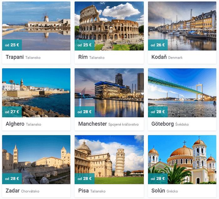 Malá ukážka turisticky zaujímavých miest s aktuálnym cenovým prehľadom