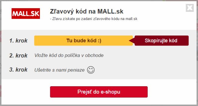 zľavový kupón MALL.SK