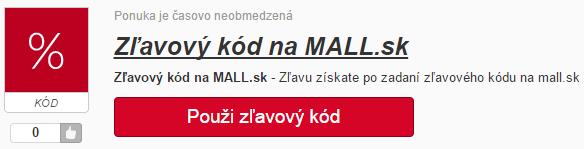 Zľavový kód MALL.SK