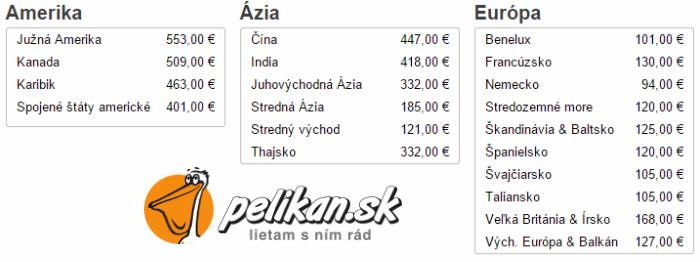 Akčné letenky na pelikan.sk